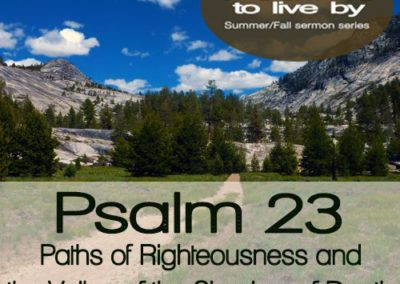 Psalm 23 – Paths of Righteousness and the Valley of the Shadow of Death pt. 2