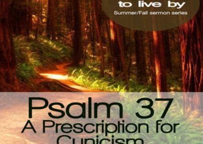 Psalm 37 – A Prescription for Cynicism